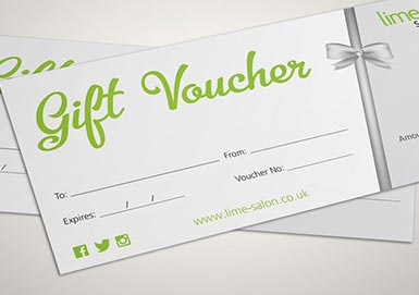 Lime Salon Gift Vouchers
